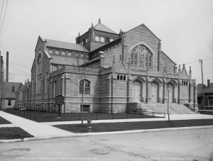 The church building, as it appeared soon after construction.