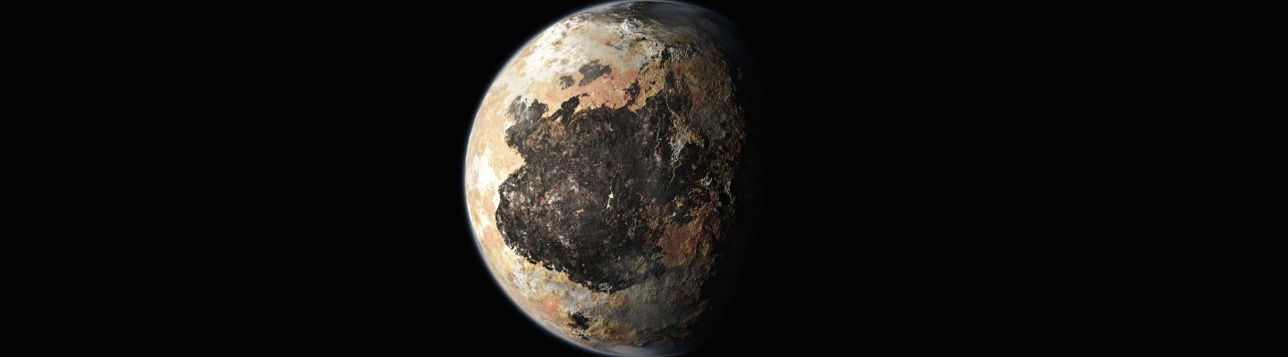 An artist's conception of Pluto, pre-New Horizons.