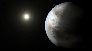 An artist's concept of Kepler-452b. (Image by NASA)