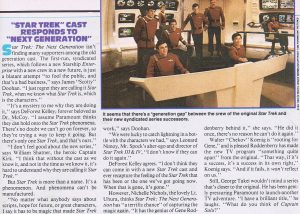 Starlog checks with TOS crew on TNG