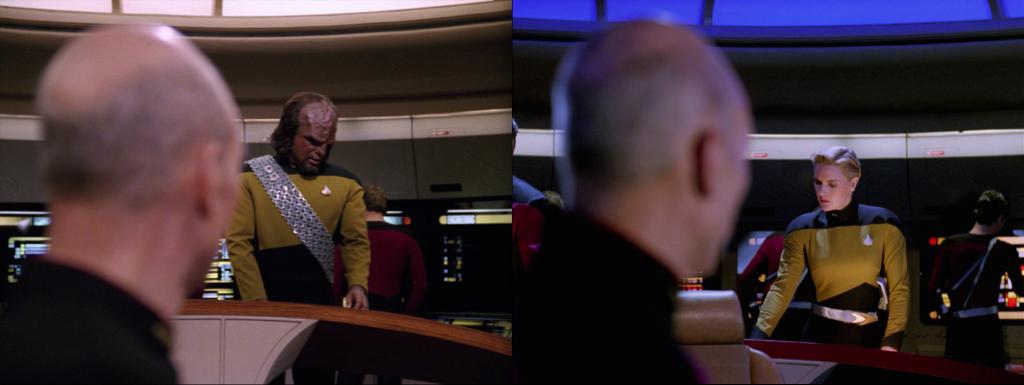 Trektember 7 - Yesterday's Enterprise - Worf & Tasha