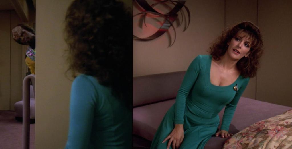 Trektember 25 - Parallels - Worf & Troi
